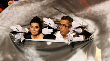 Silvia Abril y Andreu Buenafuente durante la gala de los Goya