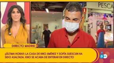 Kiko Jiménez rompe a llorar en directo al enterarse de que han robado en la casa de Sofía Suescun