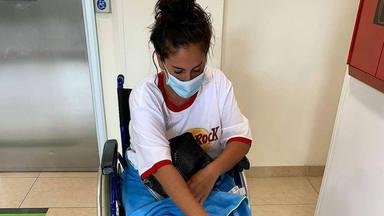 Anabel Pantoja se rompe el peroné y tendrá que ser operada de urgencia