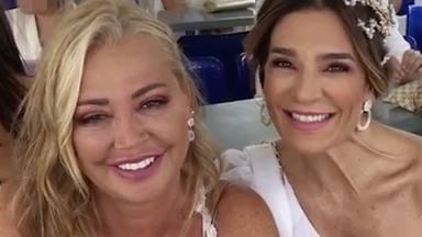 Belén Esteban y Raquel Bollo en el ferry que les lleva a La Graciosa
