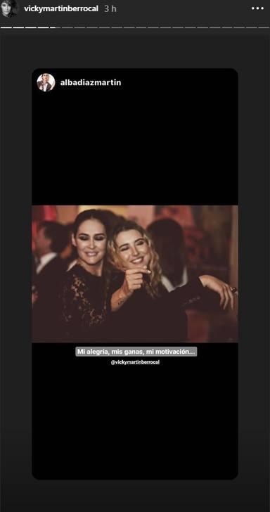 Alba Díez felicita a su madre Vicky Martín Berrocal