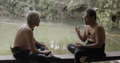 Pablo Chiapella y Jesús Calleja durante un momento de Planeta Calleja