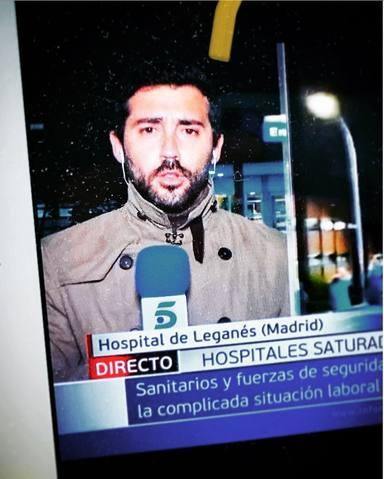 David Cantero presume de hijo en Informativos Telecinco