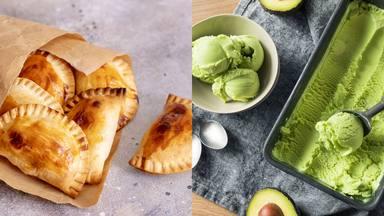 Receta empanadillas en el horno y helado de aguacate
