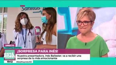 Está pasando: Inés Ballester se reencuentra con las sanitarias