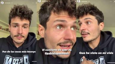 """Miki Núñez sin palabras tras el concierto de Pablo López: """"No hay palabras, es espectacular"""""""