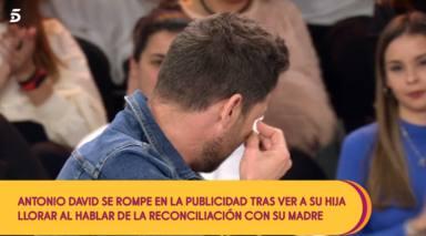 Las lágrimas de Antonio David al descubrir que su hija Rocío Flores se acuerda de su madre