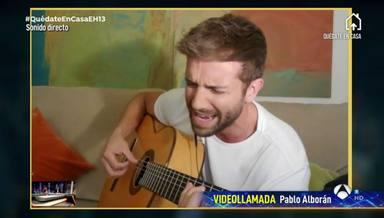 Música y solidaridad; las armas de Pablo Alborán para vencer el coronavirus en 'El Hormiguero'