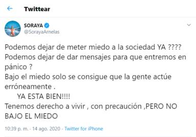 Twitter: Soraya estalla contra el Gobierno
