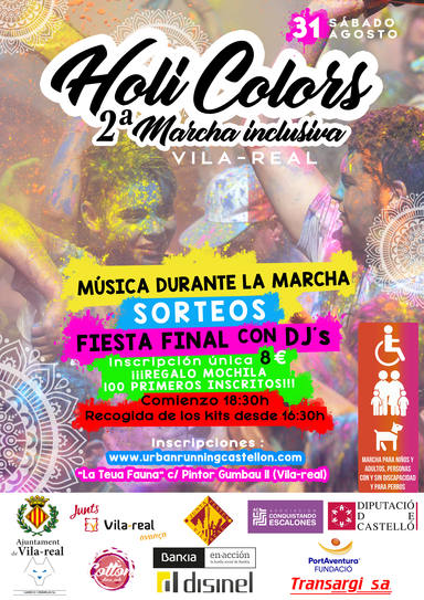 II Marcha inclusiva Holi Colors