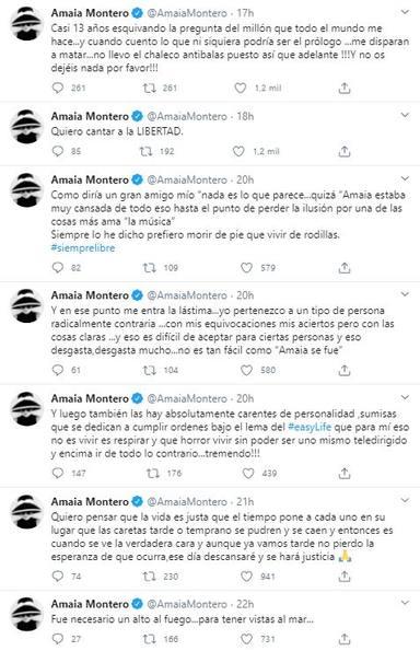 Amaia Montero aclara los motivos de su marcha de La Oreja de Van Gogh