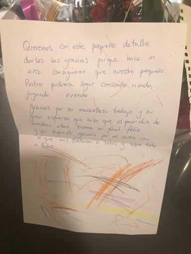 Emotiva carta de unos padres a un hospital