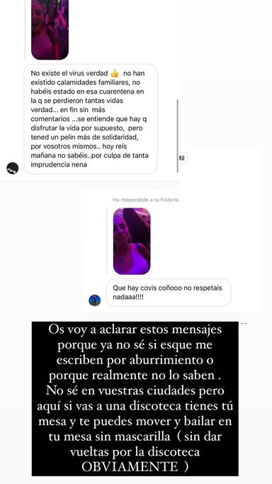 Rocío Flores explica por qué puede estar en de esta forma en una discoteca para acallar las críticas