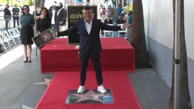 Alejandro Sanz recibe su estrella en el Paseo de la Fama en Hollywood
