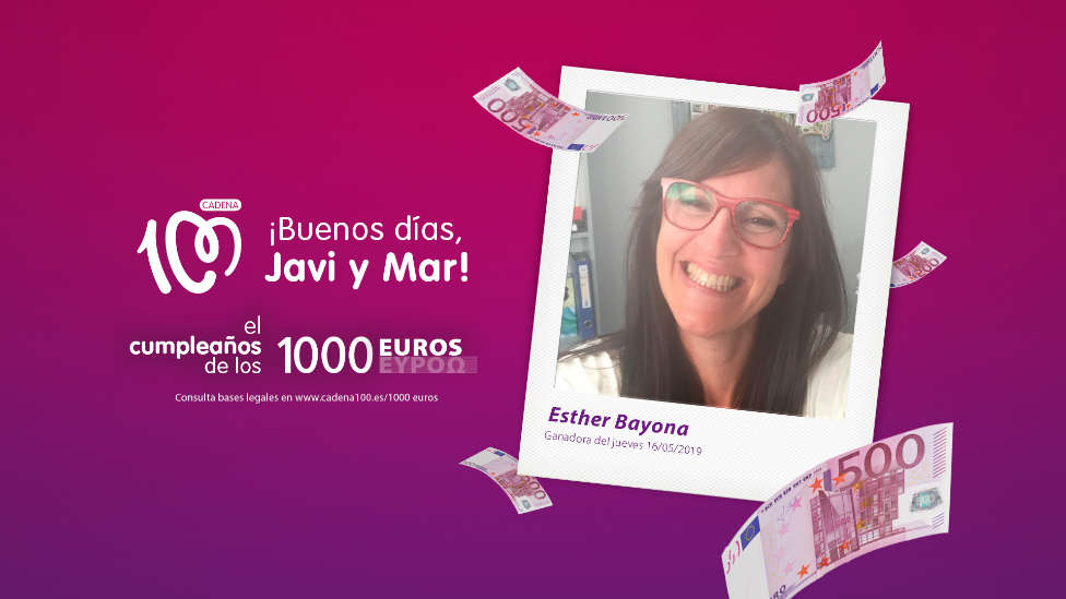 ¡Esther Bayona gana 1.000 euros!
