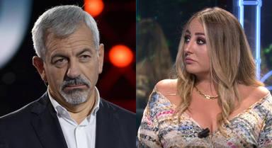 """Carlos Sobera revela el infierno que vive Rocío Flores en televisión: """"Lleva algo dentro que tiene que sacar"""""""