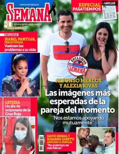 Alexia Rivas y Alfonso Merlos, en todas las portadas