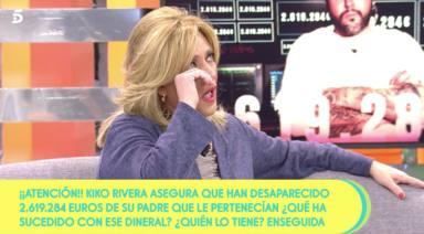 Lydia Lozano llorando en Sálvame Limón