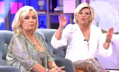 """El inesperado gesto de Carmen Borrego tras las acusaciones de Terelu Campos en directo: """"Si no os importa..."""""""