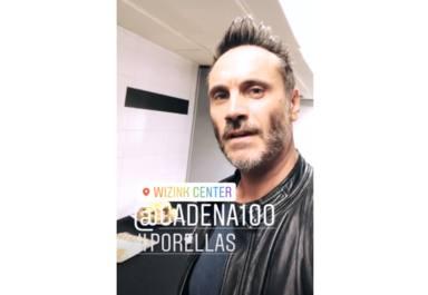 Nek en los ensayos de CADENA 100 Por Ellas en el Palacio de los Deportes de Madrid