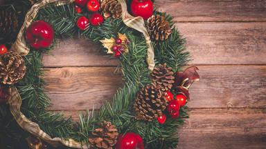 Dos puntos claves para hacer una corona de Navidad en casa