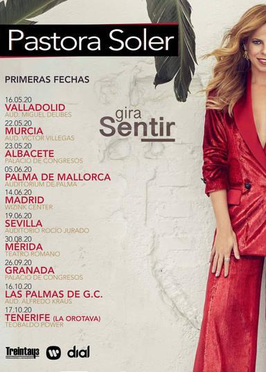 Fechas de la gira Sentir de Pastora Soler