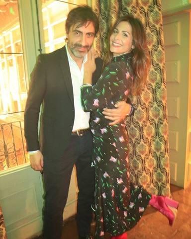 Juan y Nuria Roca en una fiesta juntos