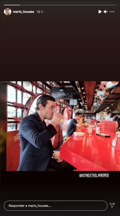Mario Casas en el restaurante de David Muñoz