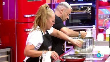 Belén Esteban cocinando mano a mano con Jorge Javier Vázquez en Telecinco