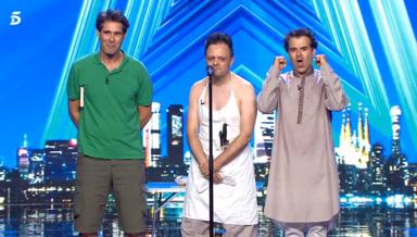Clownic tras su espectáculo en Got Talent