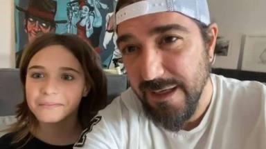 Antonio Orozco y su hijo Jan