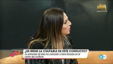 Irene Rosales defendiendose en Viva la vida