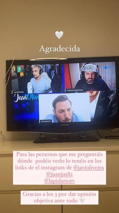 Rocío Flores y el mensaje de apoyo a su padre durante la entrevista de esta en YouTube