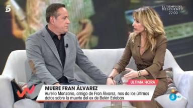 """La emoción del periodista Aurelio Manzano al recordar a su amigo Fran Álvarez: """"Estoy triste"""""""