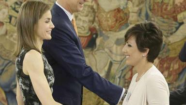 Sonsoles ónega y Doña Letizia mismo vestido