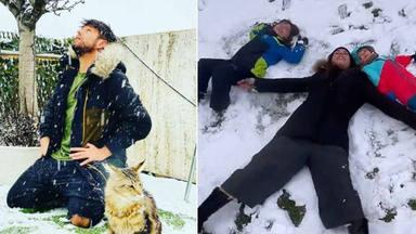 Famosos en la nieve