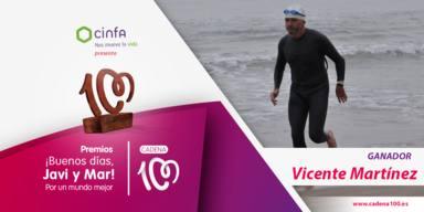 Vicente Martínez, premio ¡Buenos días, Javi y Mar! Por un mundo mejor