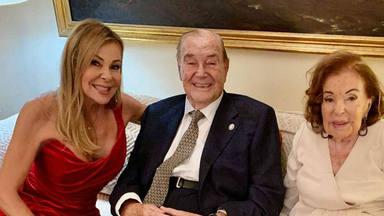 Ana Obregón y los abuelos de Álex Lequio