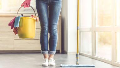 Cuidado en la limpieza de casa