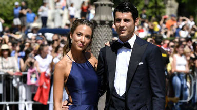 Soccerplayer Alvaro Morata and wife Alice Campello during the wedding of Sergio Ramos and Pilar Rubio in Seville on Saturday, 15 June 2019.