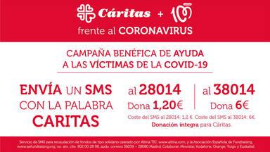 Grupo COPE lanza una campaña de donación por sms a favor de Cáritas para ayudar a las víctimas del Covid-19