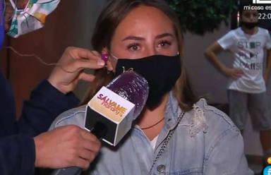Rocío Flores rompe a llorar en Sálvame para defender a su padre