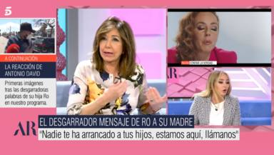 El duro mensaje de Ana Rosa Quintana a Rocío Carrasco con el que toma partido por Antonio David: Son bobadas
