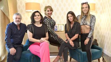 Francisco González, Rosa López, Raquel Mosquera, Laura Matamoros y Aless Gibaja en 'Ven conmigo gourmet editio