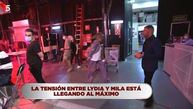 Lydia Lozano abandona el plató de La última cena tras una enorme bronca con Mila Ximénez