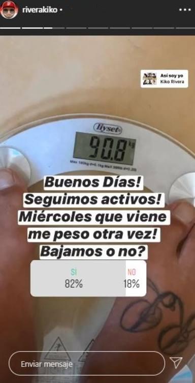 Kiko Rivera pesa 908 kilos