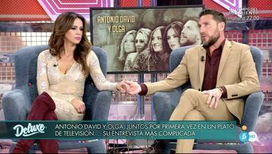 Olga Moreno y Antonio David Flores durante su primera aparición juntos en un plató