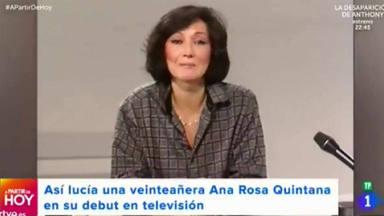 Ana Rosa Quintana, irreconocible en su primera vez ante las cámaras: este fue su debut
