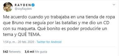 """La ilusión de Rayden por producir el single de Bruno de Operación Triunfo 2020: """"Me quedé impresionado"""