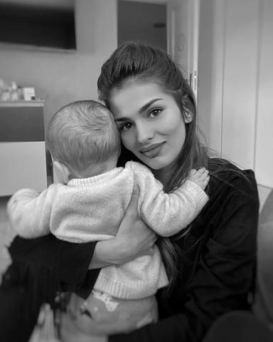 La tierna reflexión de Sara Sálamo con su pequeño Theo